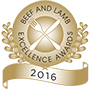Beef and lamp excellence award logo.